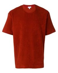 Sunspel Red Fleece T-shirt for men