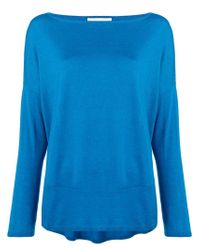 Long-sleeve flared sweater Snobby Sheep en coloris Blue