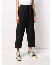 Pantalon crop à taille haute MM6 by Maison Martin Margiela en coloris Black