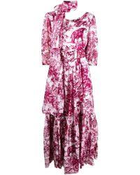 Robe Anna imprimée Samantha Sung en coloris Pink