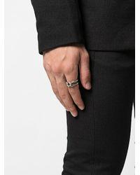 Кольцо Изогнутой Формы M. Cohen для него, цвет: Metallic