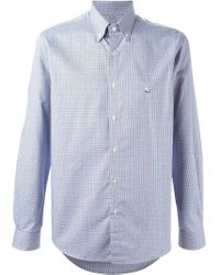 Etro Blue Printed Button Down Shirt for men