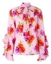 Blusa a fiori di MSGM in Multicolor