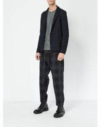 Attachment - Blue Drawstring Tailored Pants for Men - Lyst