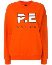 Pull Full Strength P.E Nation en coloris Orange
