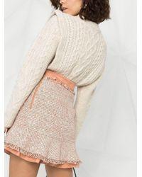 Elisabetta Franchi ツイード ミニスカート Pink