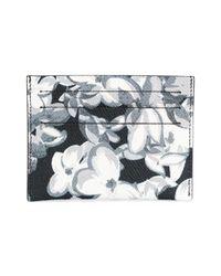 Givenchy Black Logo Floral Cardholder