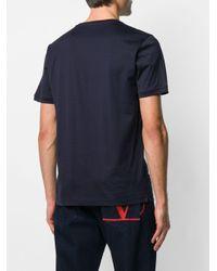 T-shirt Black Bugs Eye di Fendi in Blue da Uomo