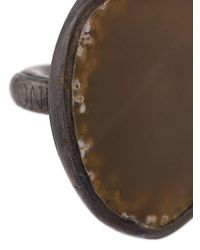 Monies - Brown Agate Black Copper Ring - Lyst