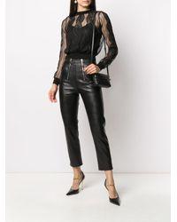 Полупрозрачный Топ С Вышивкой Alexander McQueen, цвет: Black