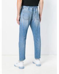 Off-White c/o Virgil Abloh Blue Belted Straight-leg Jeans for men