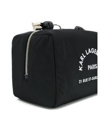 Karl Lagerfeld ロゴ コスメポーチ Black