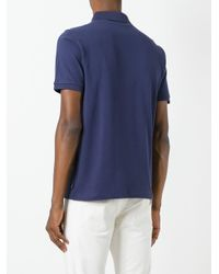 Armani - Blue Zip Detail Polo Shirt for Men - Lyst