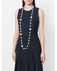 Edward Achour Paris - Blue Long Pearl Necklace - Lyst