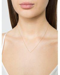 EF Collection Metallic Mini Diamond Chevron Necklace