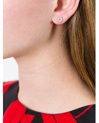 Astley Clarke - Metallic 'mini Heart Biography' Stud Earrings - Lyst