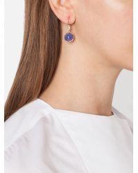 Irene Neuwirth Blue Tanzanite And Diamond Drop Earrings