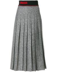 Fendi Black Pleated Skirt