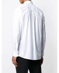 メンズ Dolce & Gabbana レースディテール シャツ White