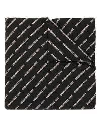 Платок С Вышитым Логотипом DSquared² для него, цвет: Black