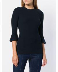 L'Autre Chose スリムフィットセーター Blue
