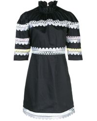 Cynthia Rowley Whitley スカラップ ドレス Black