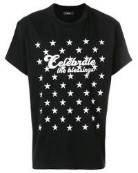 Amiri Black Celebrate The Blessings Star Cotton T-shirt for men