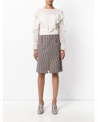 See By Chloé Multicolor Herringbone Pencil Skirt