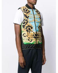 メンズ Versace バロックプリント ベスト Multicolor