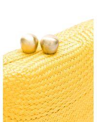 Соломенный Клатч Serpui, цвет: Yellow