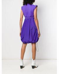 Vestito modello felpa smanicato di Palm Angels in Purple