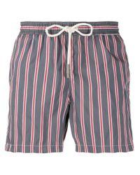 Eleventy Multicolor Striped Swim Shorts for men