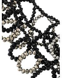 Night Market - Black Beaded Loop Necklace - Lyst