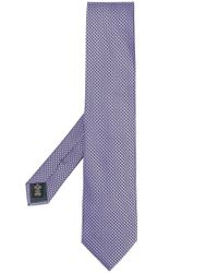 Cravatta con fantasia geometrica di Ermenegildo Zegna in Multicolor da Uomo