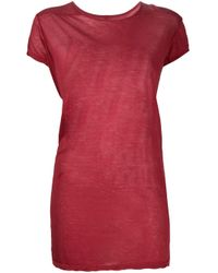 Camiseta larga de manga corta Rick Owens de color Red