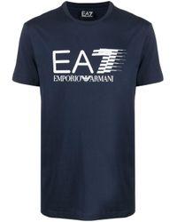 Футболка С Логотипом EA7 для него, цвет: Blue