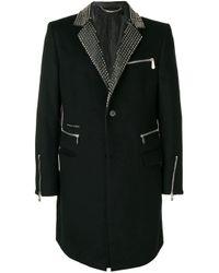 Строгое Пальто С Заклепками В Виде Звезд Philipp Plein для него, цвет: Black