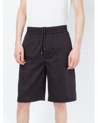 Neil Barrett - Blue Track Shorts for Men - Lyst