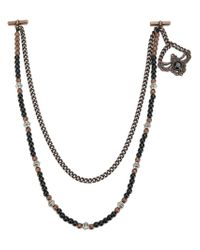 Tagliatore | Metallic Chaing1rn Copper Black Leather/fur/exotic Skins->leather for Men | Lyst