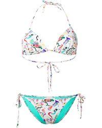 Bikini estampado Etro de color White