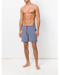Short de bain imprimé Napapijri pour homme en coloris Blue