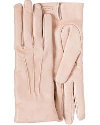 Prada - Pink Leather Gloves - Lyst
