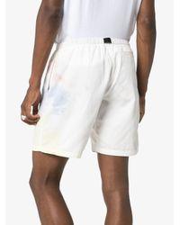 Bermudas con efecto tie-dye y cinturón John Elliott de hombre de color White
