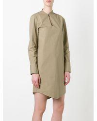 Chalayan Green Offset Dress