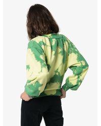 Felpa tie-dye di Off-White c/o Virgil Abloh in Green