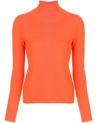 Allude Orange Turtleneck Sweater