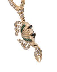 Yvonne Léon - Metallic 18k Yellow Gold Diamond And Tsavorite Crab Single Earring - Lyst