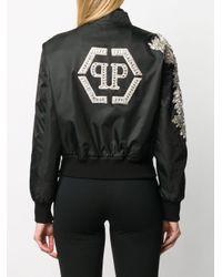 Philipp Plein クリスタル ボンバージャケット Black