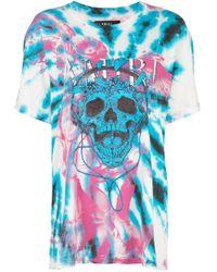 Camiseta con motivo tie-dye de calavera Amiri de color Blue