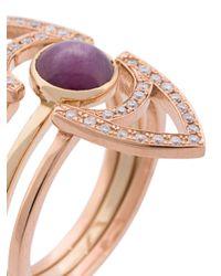 kWIT Jewelry - Metallic Anello 'star Ruby Eye' - Lyst